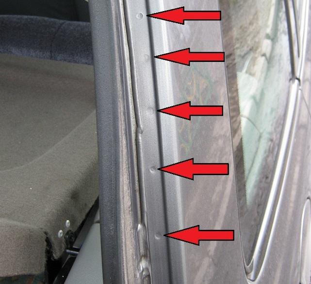 точечная сварка на багажнике калины