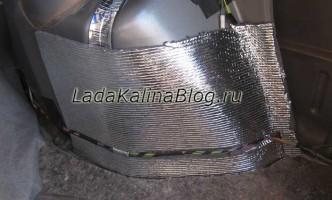 шумоизоляция задних арок на автомобиле Лада Калина