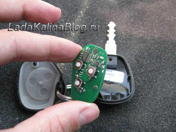 замена батарейки пульта ДУ