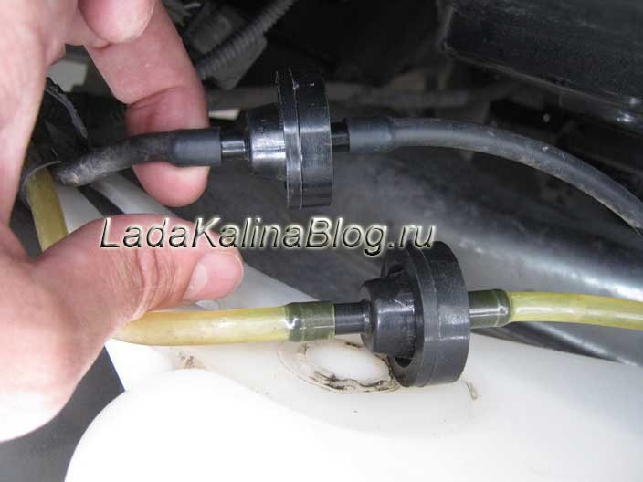 установка обратного клапана на омыватель Лады Калины