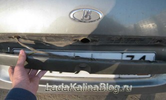 заменанакладки сабли багажника Лада Калина