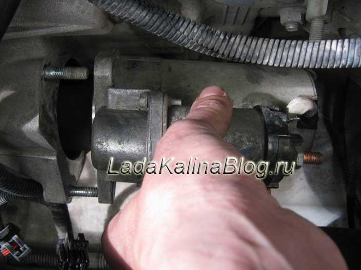 снятие и установка стартера на Ладе Калине