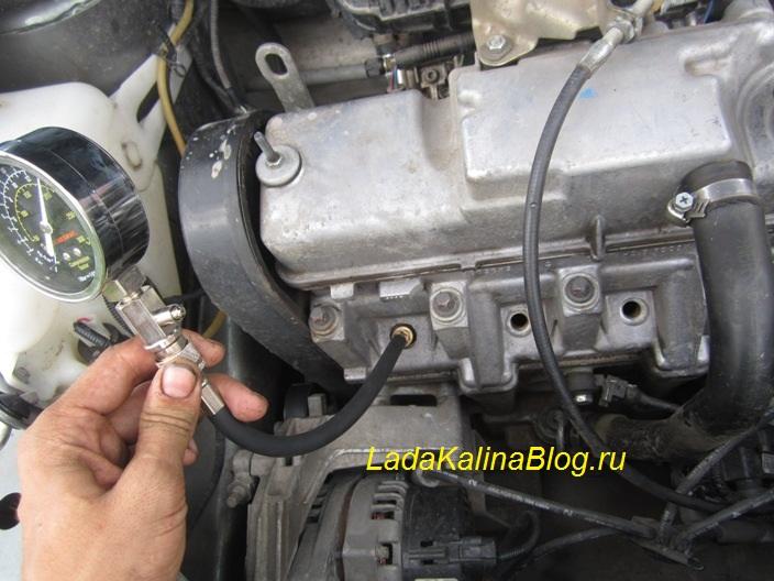 Проверка компрессии в двигателе Калины