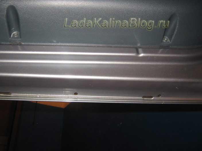 моем и сушим двери и остальные места кузова Калины перед обработкой антикором