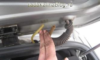ремонт омывателя задка на Калине универсал