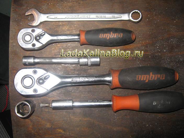 инструмент для замены трапеции и моторчика стеклоочистителя на Калине