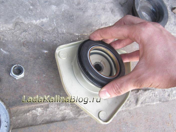 инструкция установки стойки и опорного подшипника осоми на калине