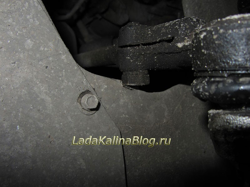 гайка рулевой тяги цепляет кузов на Калине SS20