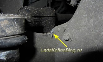 повреждение металла при повороте руля на Калине со стойками SS20