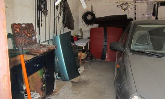 Калина в моем новом гараже
