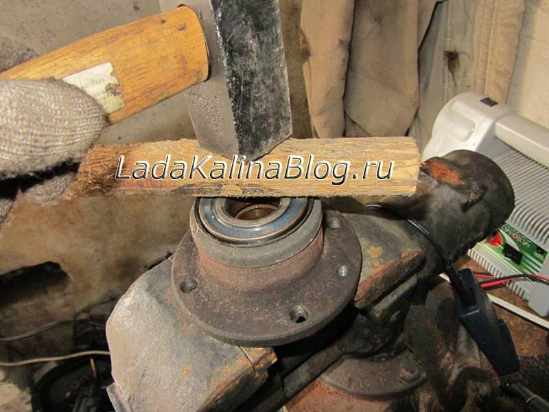 установка подшипника ступицы на Калине своими руками