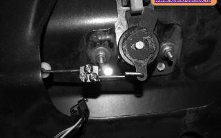 Установка электрозамка багажника