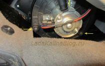 Замена моторчика печки не снимая панели