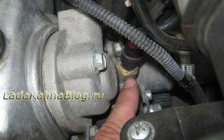 Замена датчика указателя температуры двигателя (ОЖ)
