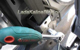 Снятие и установка передних ремней безопасности