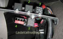 Предохранители топливного насоса и вентилятора охлаждения двигателя