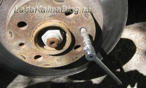 Руководство по замене тормозных дисков