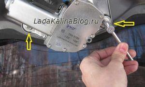 Снятие моторчика заднего стеклоочистителя