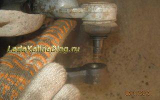 Проверка и замена рулевых наконечников