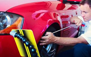 Как починить автомобильные вмятины простыми способами