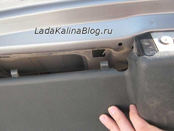 снятие обшивки багажника на Ладе Калине хэтчбек или универсал