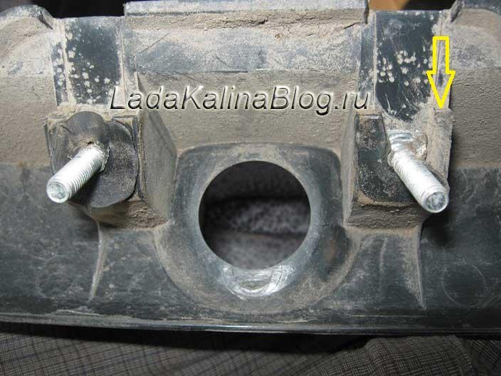 поломка накладки сабли багажника Калины