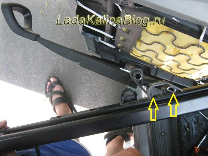 установка салазок на сиденья Лады Калины