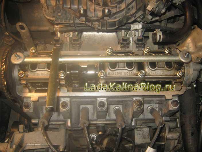 плвнка для регулировки клапанов на Калине