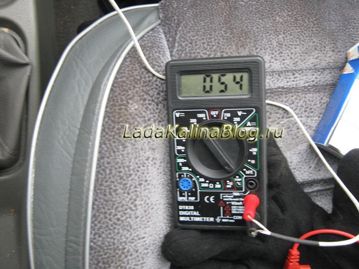температура воздуха в салоне Калины после модернизации заслонки