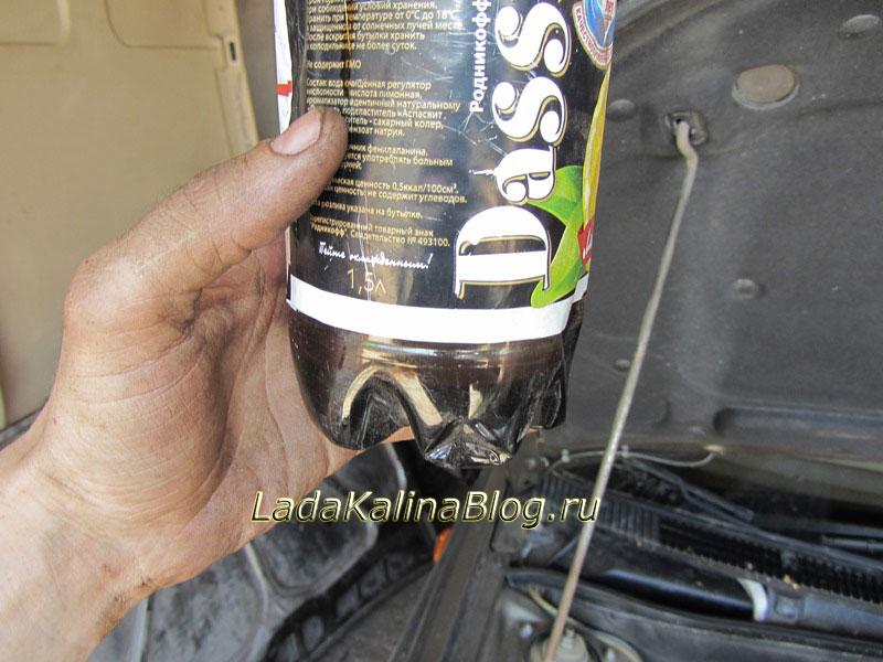 остаточный объем масла при сливе в двигателе